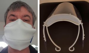 Masque barrière pro et visière de protection
